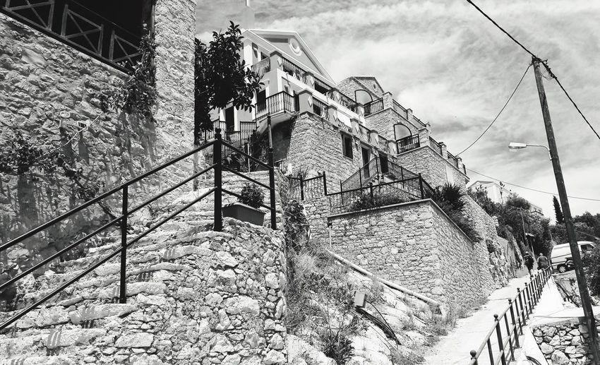 Simy Ile Grecque Architecture Black And White Noir Et Blanc