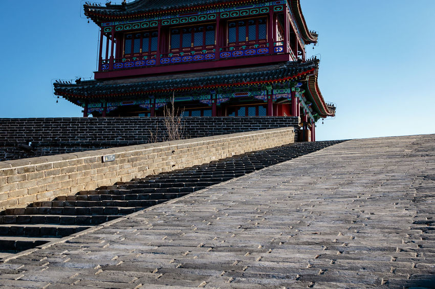 Ancient History Archaeological Site Architecture Castle Great Wall Hebei Sunlight Tourist Travel Ancient Attraction China Chinese Cultures Fortification Historic Site History Landmark Military No People Qinhuangdao Shanhaiguan Sky Steps Tradition