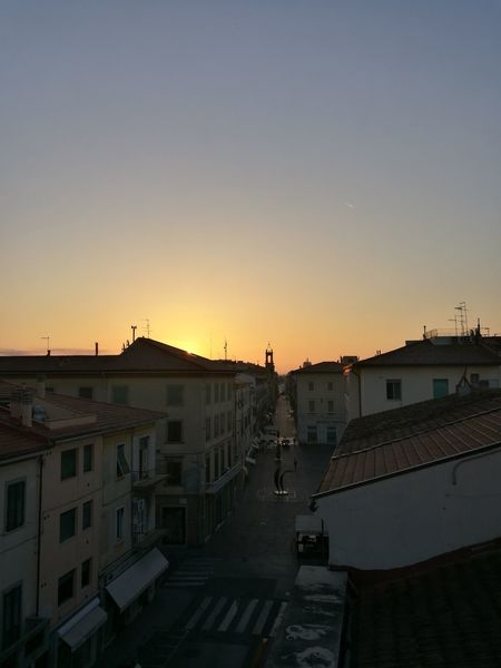 My town... Sunrise Building Exterior... Pontedera Architecture Built Structure Sunset Residential Building Residential Structure City Copy Space Clear Sky City Life Residential District Cityscape Orange Color Romantic Sky Sky Outdoors Apartment No People Town Building Story First Eyeem Photo