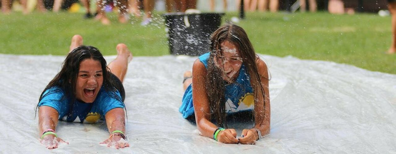 Water Splashing Two People Mouth Open Vitality Full Length Fun Friendship Wet Summer Summertime Summer Camp Venezuela Venezolana America Portland Motion Togetherness Conquering Adversity People Challenge Outdoors Adults Only Playing Day