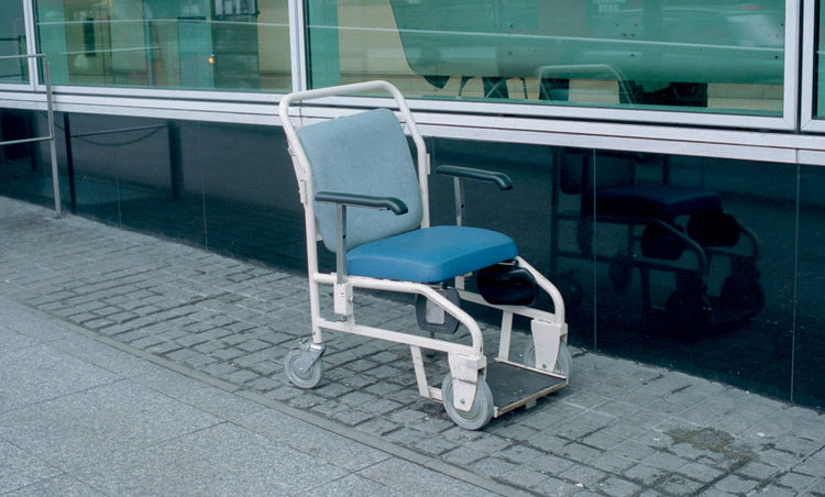 35mm Film Film Portra 400 Absence Chair Day Empty Film Photography Indoors  No People Seat Technology
