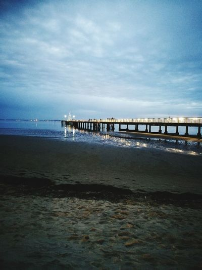 Let's bright Sea Horizon Over Water Cloud - Sky Beauty In Nature Water Architecture Sky Pleasure Balade France Autumn Photography Photo Jetée Nature Light Beauty