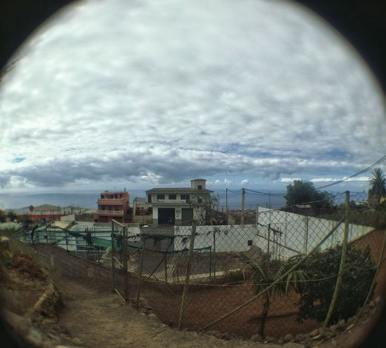 Sky No People Cloud - Sky Built Structure Architecture Outdoors Day Nature Fish-eye Lens Simplicity Tenerife.