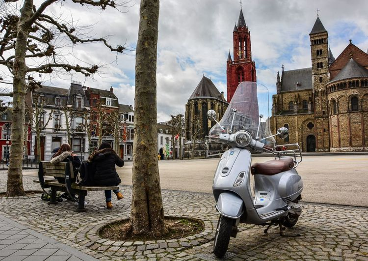 Vrijthof is the biggest and most famous square in Maastricht. There are at least 38 monuments and the most dominant ones are the church twins. Maastricht Tourism Tourist Square City City Life People Vespa Church Monument The Netherlands Limburg Travel Travel Photography Traveling Historical Building Landmark History Old Buildings Tower Old Streetphotography Citylife Up Close Street Photography
