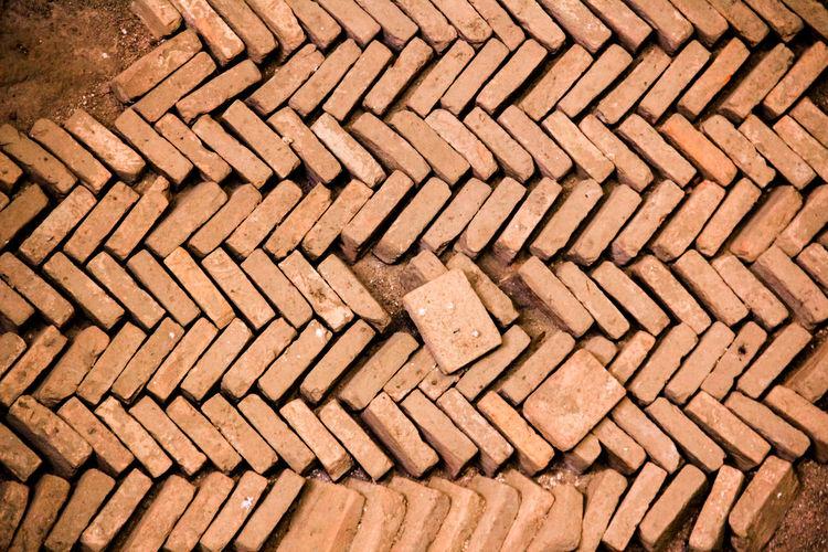 Abstract Arrangement Brick Wall Building Exterior Building Site Built Structure Fußboden - Art Geometry House Irregular Stones Irregularity Old Pattern Repetition Steine Stones Tiled Floor Variation Ziegelsteine Zigzag