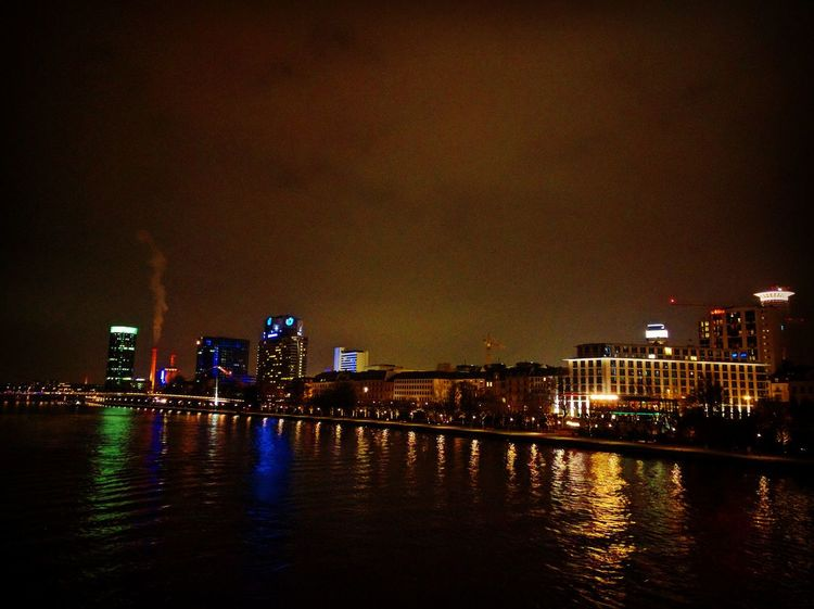 Night life Reflection Architecture Water City Night Waterfront Building Exterior Illuminated Built Structure No People Cityscape Outdoors River
