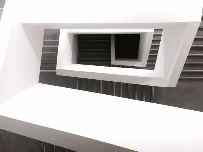 Steps And Staircases Architecture No People Day Built Structure Indoors  Whitewashed Close-up