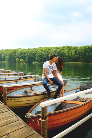 Showcase July Cutecouple Berlinstagram Amschlactensee Lake July Morning Boats Boats Boats Kissing Greenery