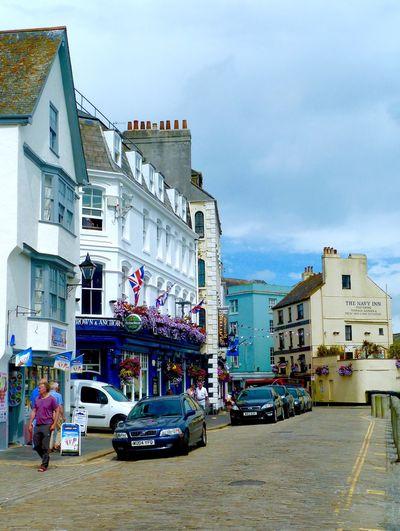 Plymouth Street Scene Pub Shops
