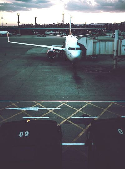 Transportation Mode Of Transport Travel Sky Airport Journey Travel Destinations Airport Runway Outdoors Air Vehicle No People Tourism Melancholic Landscapes Trip Travel Capture The Moment TheWeekOnEyeEM Taking Photos