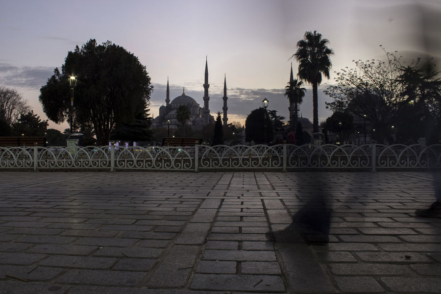 Blue Mosque Istanbul Sky Slow Shutter Turkey