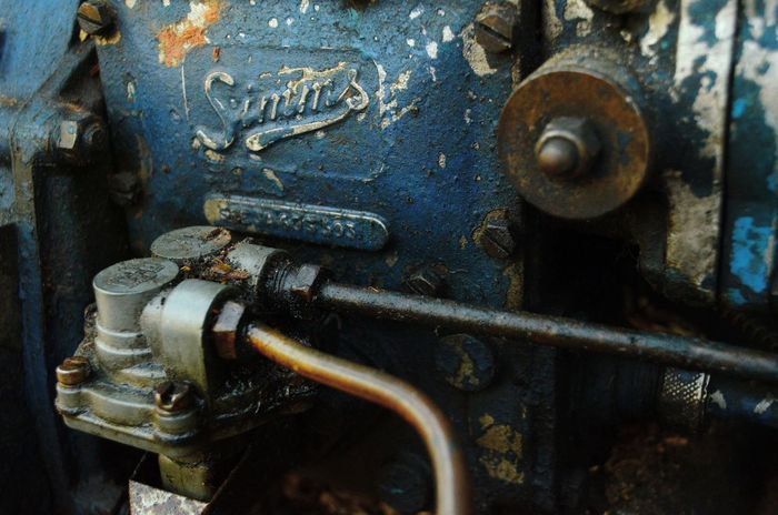 simms Simms Tractor Engine Old Engine Old Tractor Junk Engine Junk Tractor Industry Machinery Machinery Close Up Blue Engine
