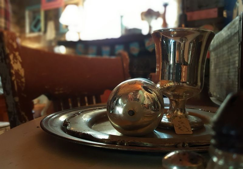 Close-up Focus On Foreground Old-fashioned Man Made Object No People Shiny Cup Antique Antiques