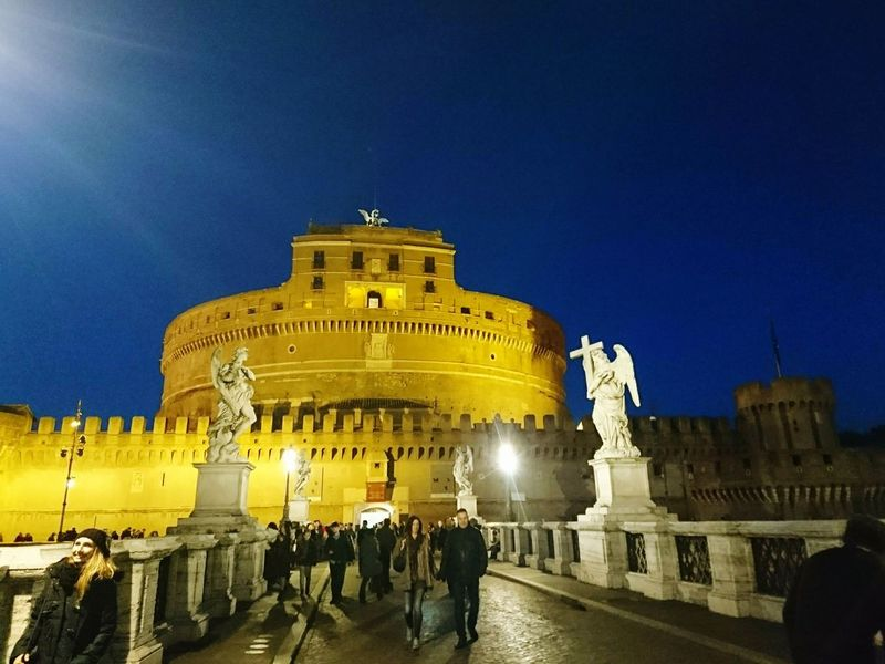 Architecture History Travel Destinations Night Illuminated Built Structure Cultures People Large Group Of People Building Exterior Politics And Government Sky City Outdoors Adults Only Adult トスカ Tosca オペラの舞台 プッチーニ Italy🇮🇹 ローマ イタリア Roma
