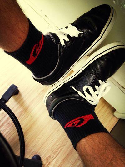 Black shoes...
