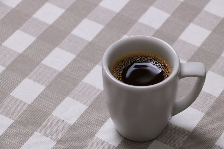 Good Morning! Cup Food And Drink Drink Mug Refreshment Coffee Cup Close-up Food Indoors  No People Freshness Coffee Table Still Life High Angle View Coffee - Drink Tablecloth Black Coffee Copy Space Espresso