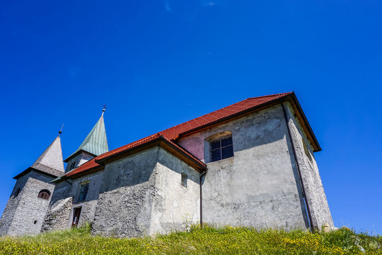 Architecture Blue Sky Church Church In The Mountains Exploring New Ground Hiking Low Angle View Old Church
