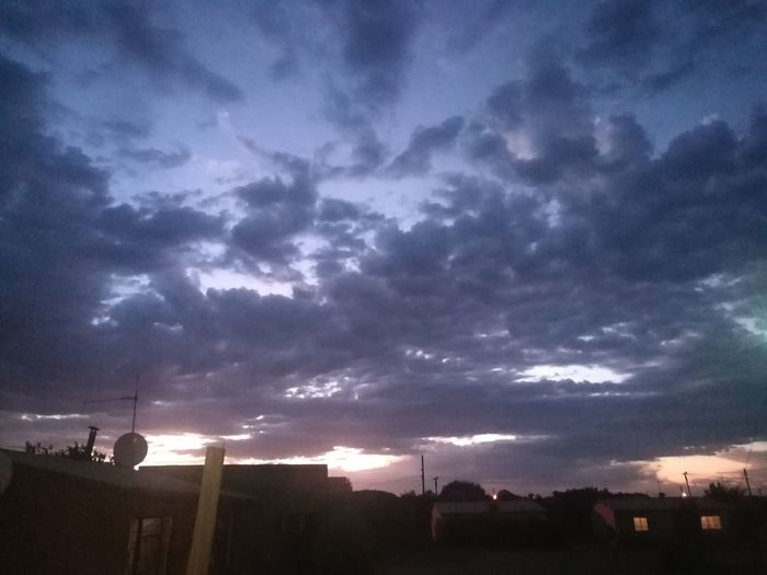 cloudy evening Sunset Storm Cloud Tree Dramatic Sky Sky Extreme Weather Atmospheric Mood Sky Only Overcast Cloudscape 2018 In One Photograph