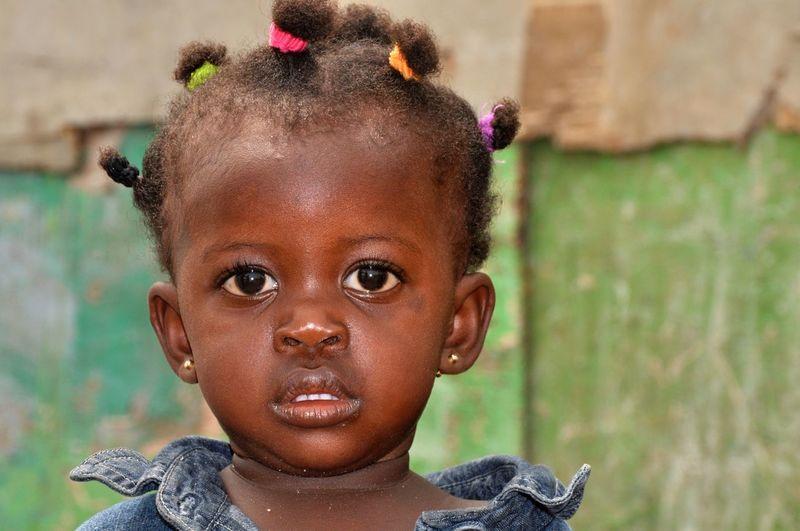 Close-up portrait of pre-school girl