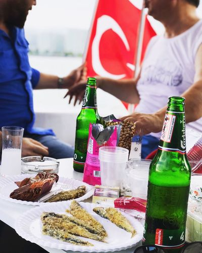 Alcohol Raki Balik Miting Food And Drink Bottle Container Food Drink Real People Refreshment Alcohol Lifestyles Two People People Drinking Glass Day EyeEmNewHere