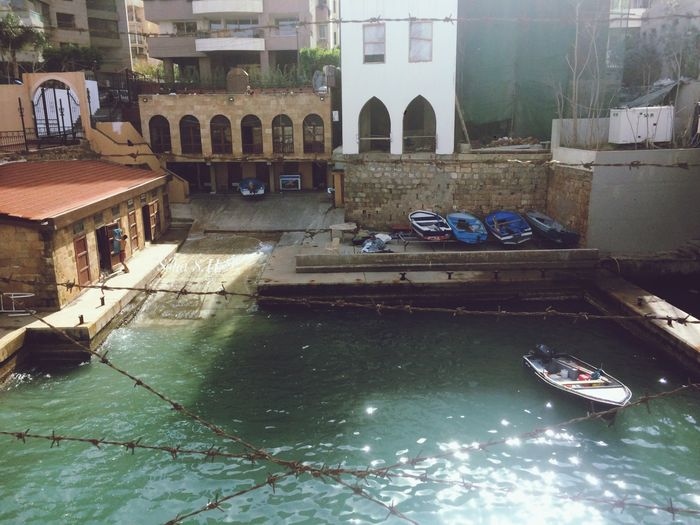 Rainy day #beirut #lebanon Architecture Building Exterior Water Built Structure Day Outdoors Waterfront No People Nature City Gondola - Traditional Boat