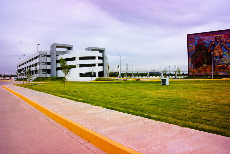 Convention Center in Mazatlán, Sinaloa, México Architecture Building Exterior Day Modern Architecture Mural Art Murales Murales Mexico Sky Stadium