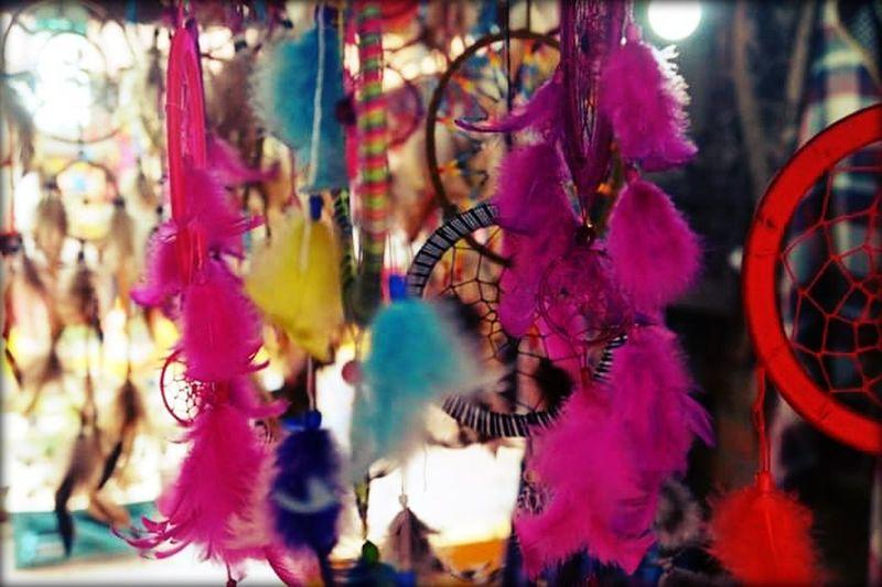 dreamcatcher Multi Colored Hanging Celebration Close-up