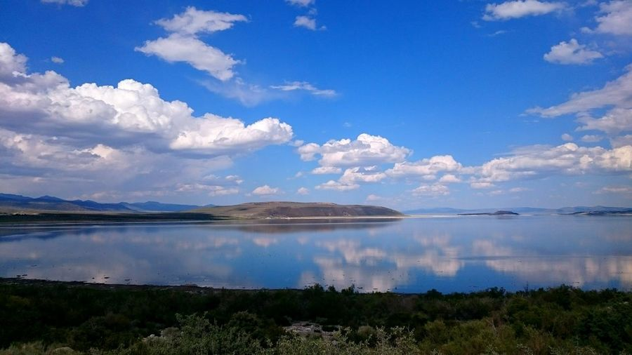 Mono Lake Balance Lake View Sunny Day Summer Vacation Blue Sky Calm Water Sweet LifeThe Great Outdoors Mirror View Summer Time  Travel Sightseeing