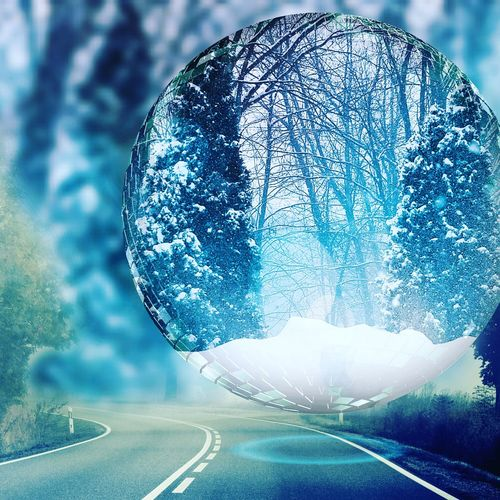 Walking in a winter wonderland Outdoors Blue Beauty In Nature Winter 2017 Cold Temperature Snow Covered Eyeemnaturelover Popular Photos No People Day Picture In Picture Trees Snowflakes ❄ Instagram Pics
