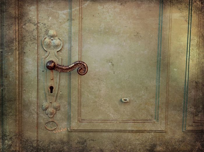 Wood - Material Entrance Metal Door No People Full Frame Textured  Backgrounds Old Closed Close-up Safety Design Lock Pattern Brown Security Indoors  Rusty Antique