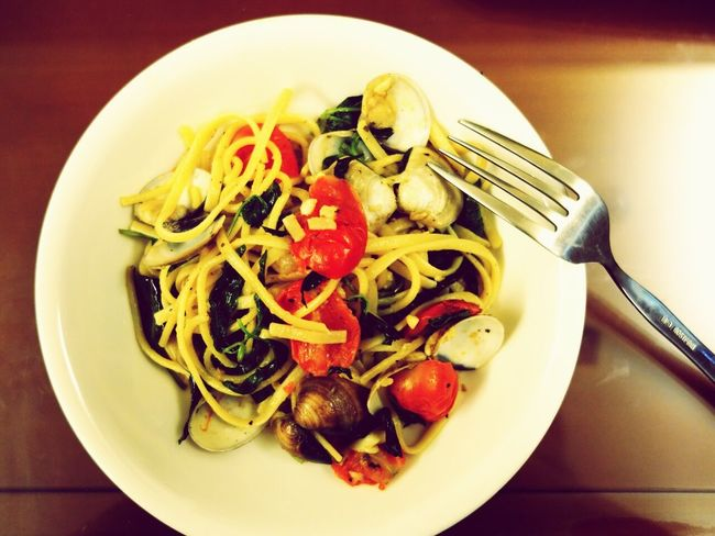 蒜香海鮮義大利麵 Seafood Noodle Spaghetti Pasta