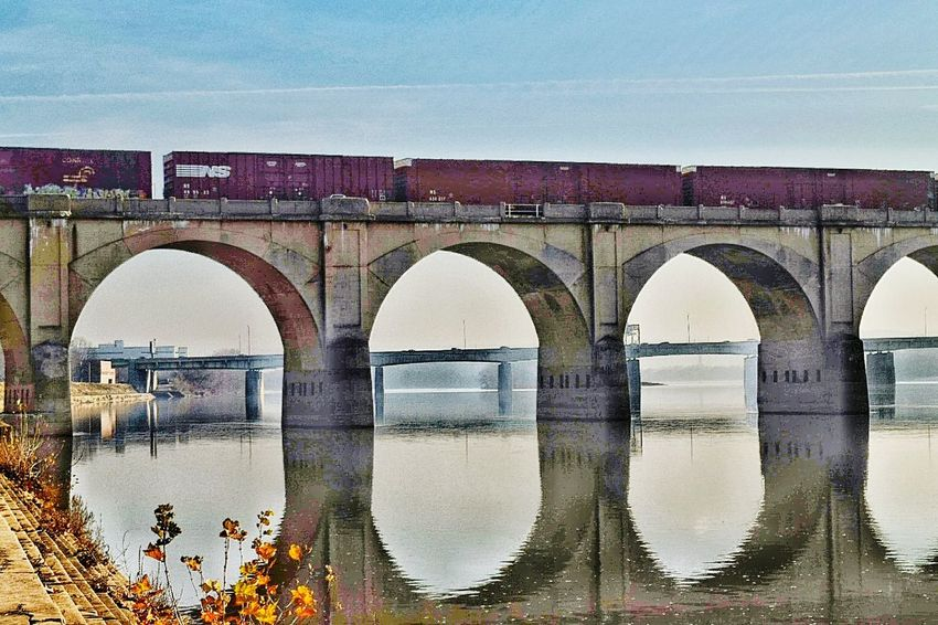 Showcase: December Taking Photos Train Railroad Railroad Bridge Trainphotography Eye4photography  EyeEm Best Shots Hello World Eye Em Best Shots Water Reflections