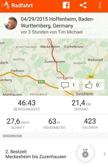 First Roadbike run of the season. Not Bad! StevensBikes Rennrad Fitness Garmin Edge810 Mauer Meckesheim Zuzenhausen Hoffenheim