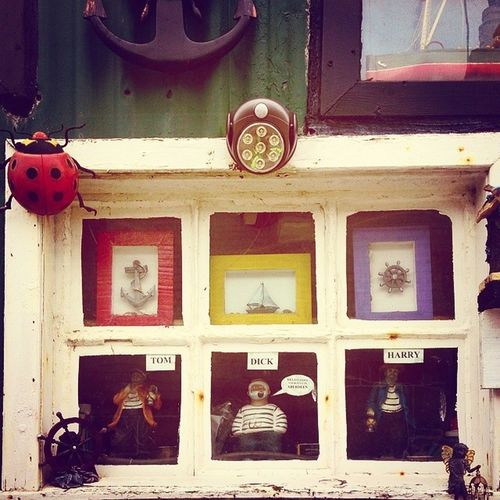 Tom, Dick and Harry Mycamerastories Tomdickandharry Shed Fittie aberdeen fishingvillage window display decorations pretty traditional tradition seaside cute sailor ladybird anchor igscotland instascotland brilliantmoments ig_scotland sweet visitscotland