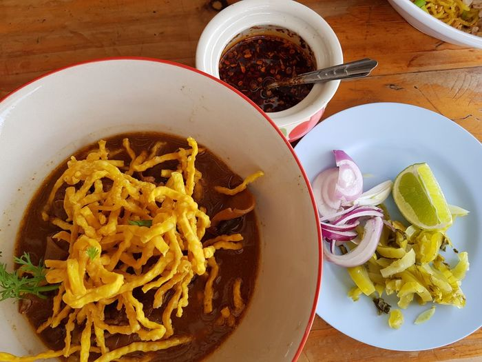 Khao Soi Thailand Chiang Mai | Thailand Thaifood Khao Soi Soup Curry Noodle Soup EyeEm Selects Italian Food Plate Table Bowl Close-up Food And Drink Pasta