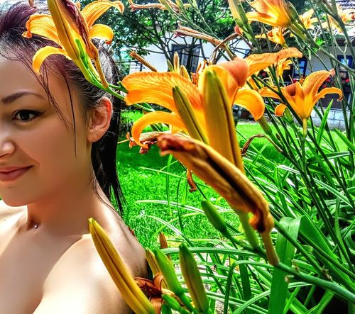 Taking Photos Hello World That's Me Enjoying Life Relaxing Nature And People Lily Flower Lilies Beauty In Nature People And Places