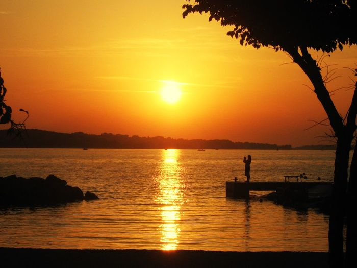 Sunset Sun Silhouette Water Scenics Beauty In Nature Orange Color Nature Tranquility Reflection Sea Tranquil Scene Sky Tree Outdoors Romantic No People Croatia Beach Beauty In Nature Beautiful Nature Nature EyeEm Best Shots EyeEm Nature Lover Sunset_collection