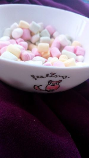 Sweet Food Indoors  Pink Color Candy Pastel Colored Dessert Ready-to-eat Food Minimarshmallows Littlefox Feelingfoxy
