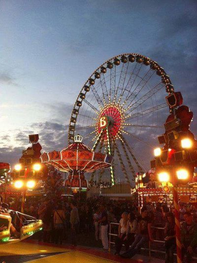Attractions Rides And Attractions Rides Fun Crange  Cranger Kirmes  Kirmes Kirmes 💗 Ferris Wheel Illuminated