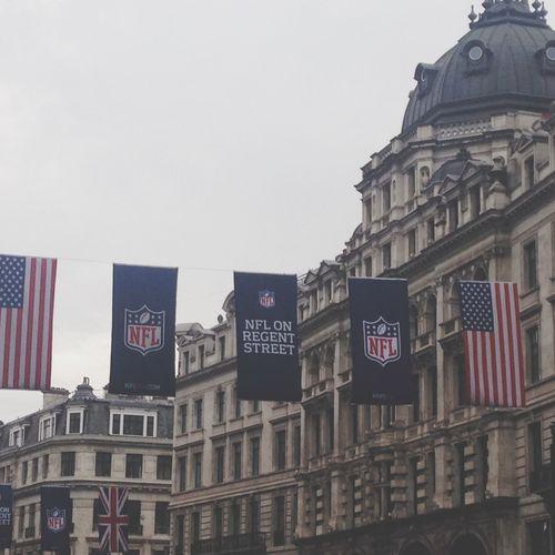 NFL Football Hanging Out Regentsstreet London