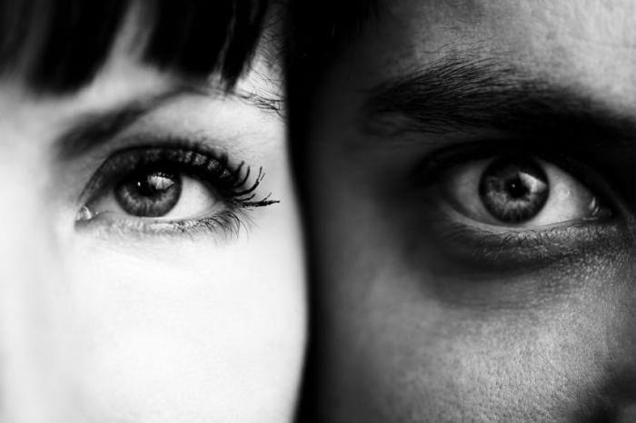 Black & White Eyes Boyandgirl Looking