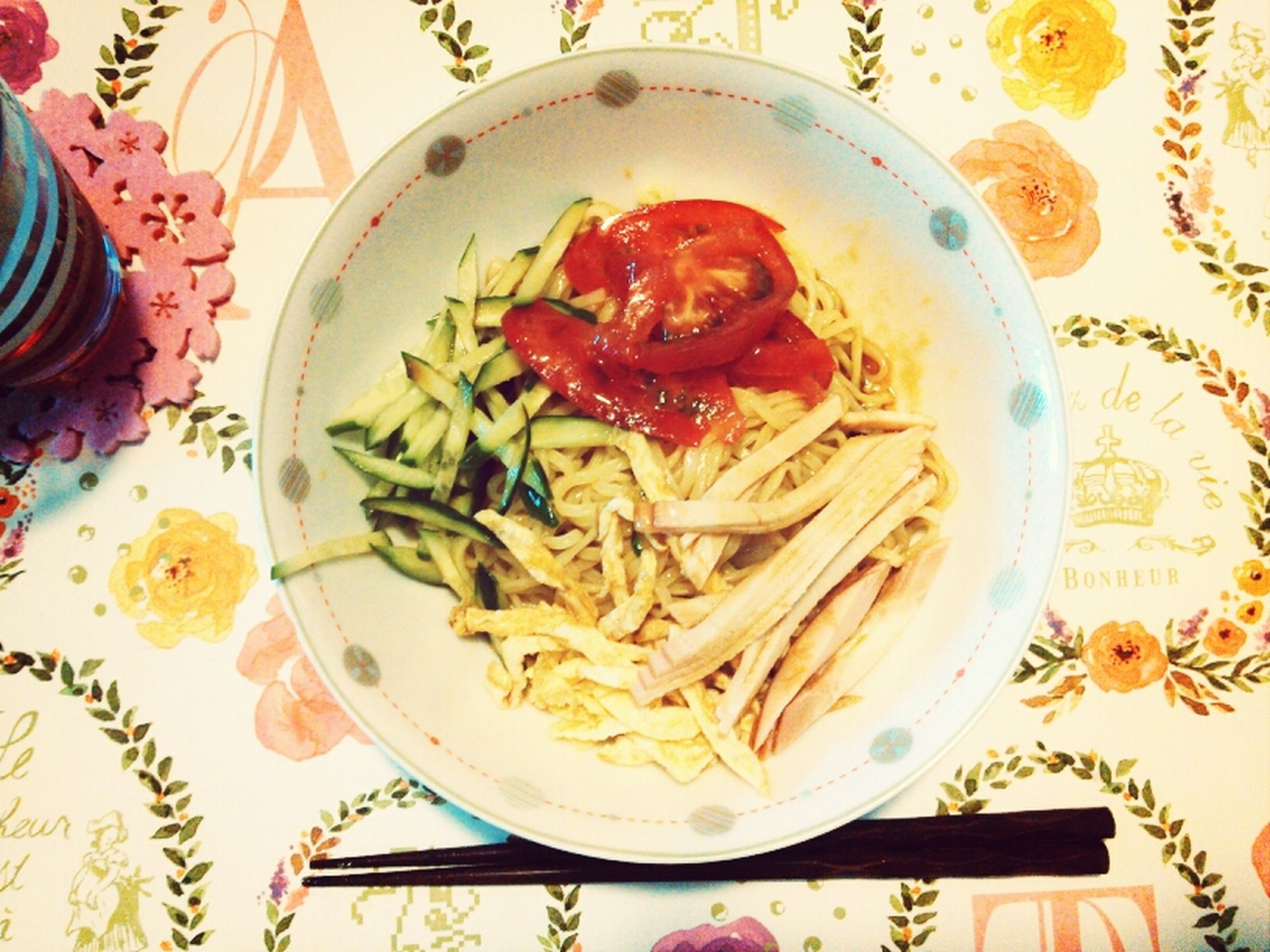 indoors, food, food and drink, plate, freshness, ready-to-eat, still life, table, serving size, high angle view, directly above, indulgence, meal, healthy eating, garnish, pasta, close-up, served, bowl, no people