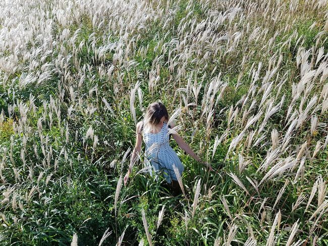 Grass Girls Day Growth High Angle View Outdoors Nature One Person Green Color Real People Plant Full Length Shadow People The Week On EyeEm Beauty In Nature EyeEmNewHere Women Been There. Done That. Fresh on Market 2017 Fashion Stories Love Yourself Go Higher