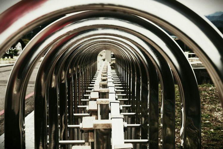 Metal Circles Light And Shadow Railway