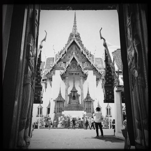Grand Palace Bangkok Thailand B&w I Love Thailand Hipstamatic Midsummer Traveling Up Close Street Photography Found On The Roll