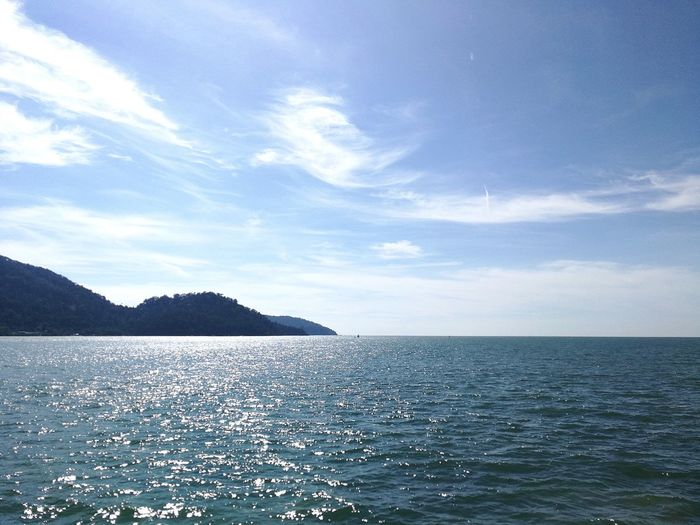 Sea Water Horizon Over Water Scenics Cloud - Sky Nature Tranquility Beauty In Nature Rippled Tranquil Scene Outdoors No People Blue Day Beach Vacations Sky The Great Outdoors - 2017 EyeEm Awards Pangkor Island Malaysia Sommergefühle