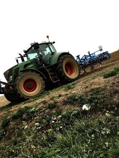 Tracteur Tractor Tractors Agriculture Farming Farming Vehicles Fendt Campagne Scene Green Color Virage Braquage Fourriere