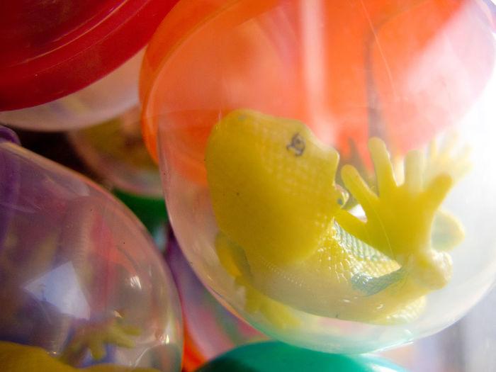 Capsule Toys Close-up Gashapon Capsules Memories Toy Geko Yellow