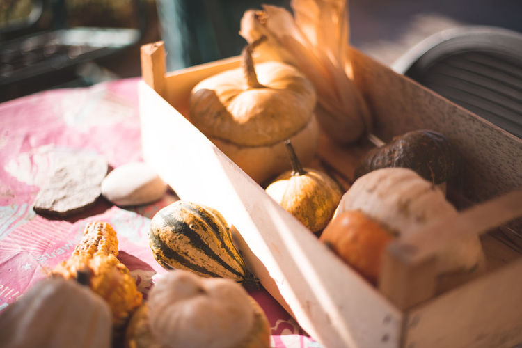 Autumn Mood Food And Drink Food Freshness Still Life Wellbeing Selective Focus Healthy Eating Indoors  Close-up No People Bread Choice Variation Table For Sale Container Retail  Meat Large Group Of Objects Business Retail Display French Food