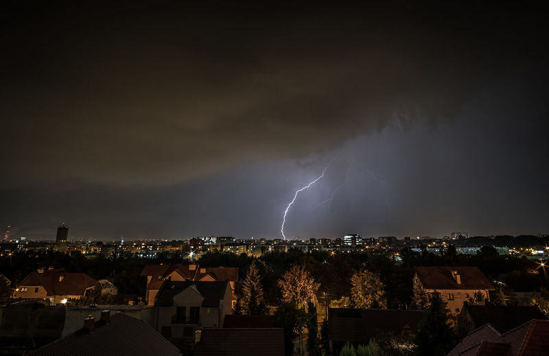 Sometimes it's enough to stick a camera out of your window. Architecture Beauty In Nature Building Building Exterior Built Structure City Cityscape Cloud - Sky Cracow Forked Lightning Lightning Nature Night Ominous Outdoors Power Power In Nature Residential District Sky Storm Storm Cloud Thunder Thunderstorm TOWNSCAPE